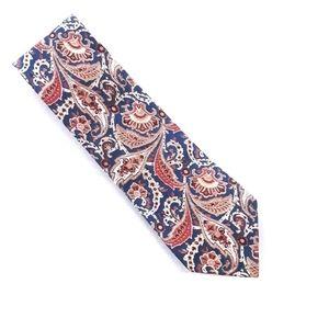 Linen tie. Paisley.  Lands' End. Hand made U.S.A.